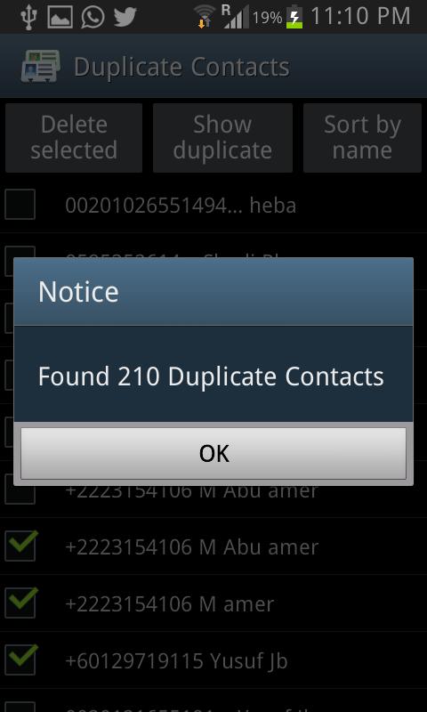 تطبيق Duplicate Contacts لحذف جهات الاتصال المكررة