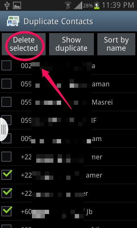 تطبيق Duplicate Contacts