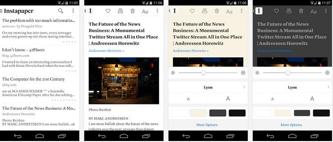 تطبيق القراءة اللاحقة Instapaper مجانا مع المزيد من المزايا | بحرية درويد