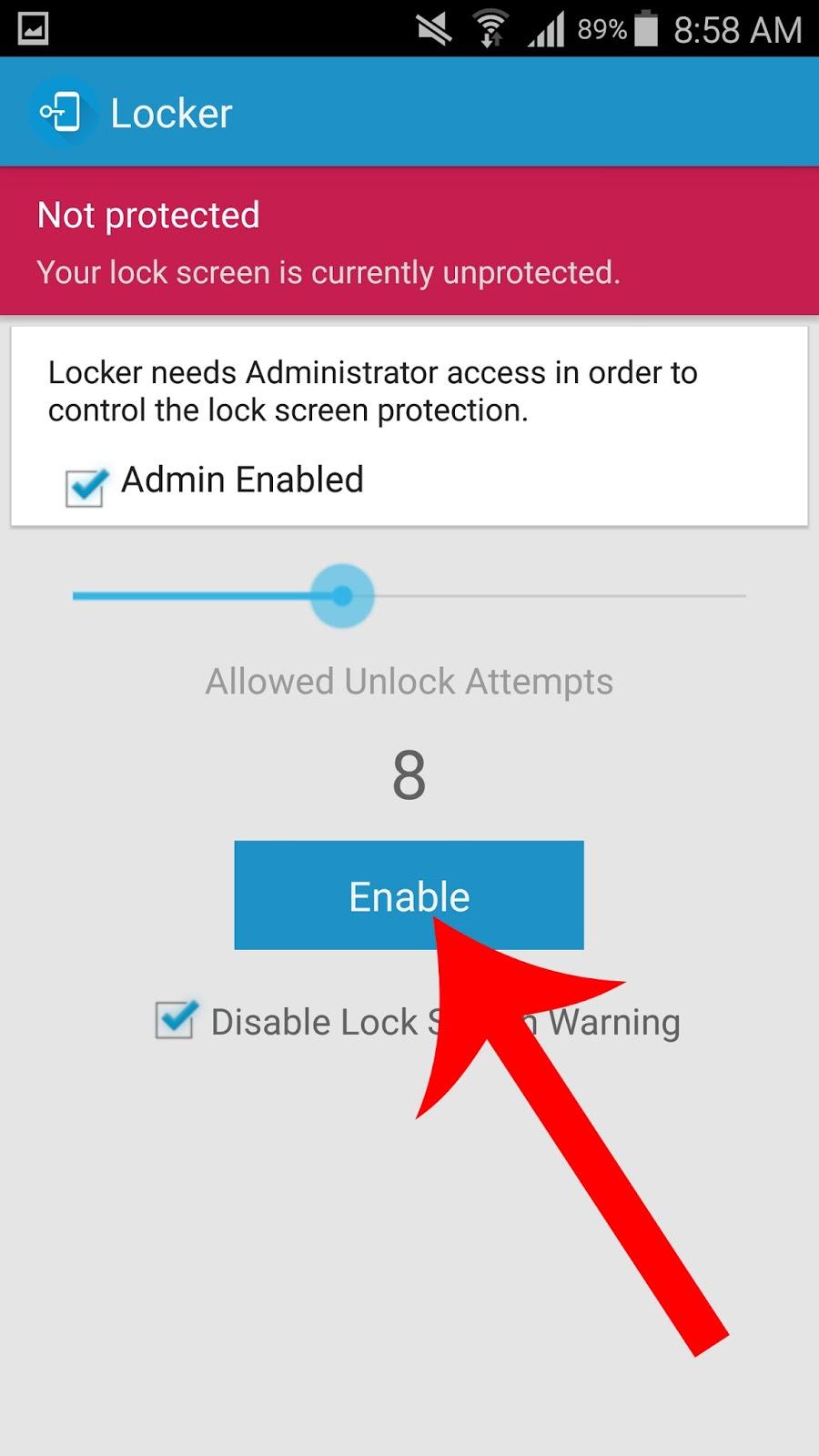 تطبيق Locker حل جديد لمسح جميع المعلومات من هاتفك المسروق   بحرية درويد