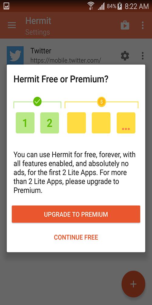 لن تحتاج لتثبيت التطبيقات بعد اليوم تطبيق Hermit لأنشاء نسخ خفيفة من اي تطبيق | بحرية درويد