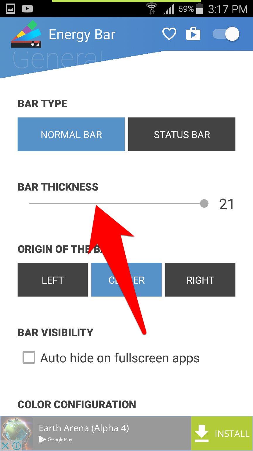 تطبيق Energy Bar لتغيير طريقة عرض نسبة البطارية بدون روت | بحرية درويد