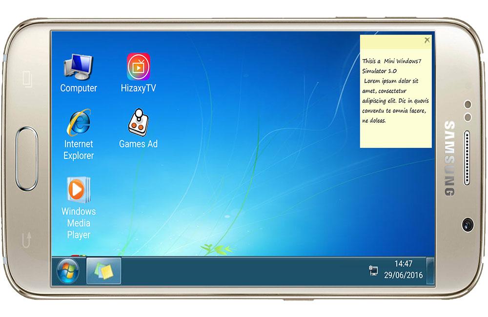 شغل ويندوز 7 على جوالك الاندرويد بضغطة زر واحدة تطبيق 7imulator | بحرية درويد