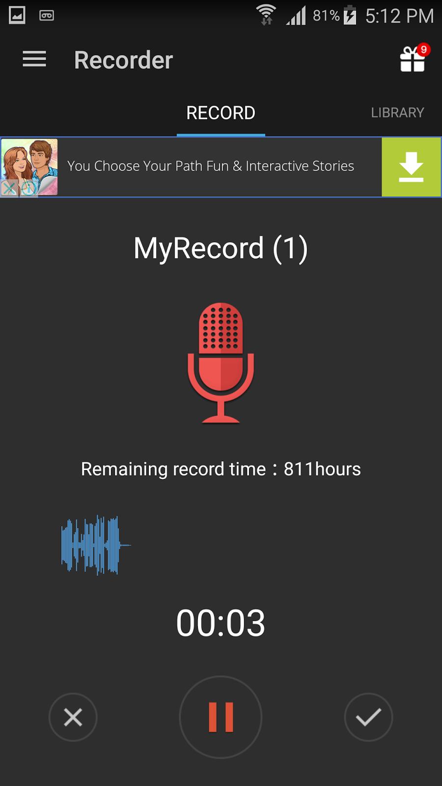 برنامج تسجيل الصوت للاندرويد مخفي