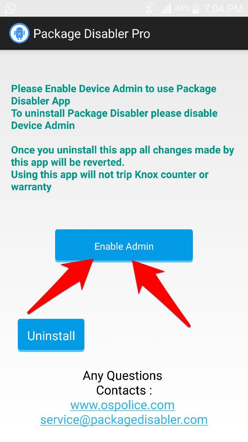 تطبيق Package Disabler لحذف التطبيقات الاساسية بدون روت   بحرية درويد