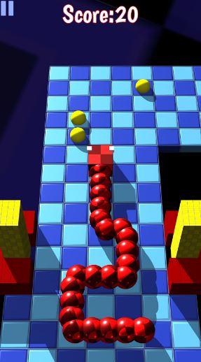 حمل لعبة الثعبان الجديدة Snaky Squares نفس اللعبة بتصميم ثلاثي الابعاد | بحرية درويد