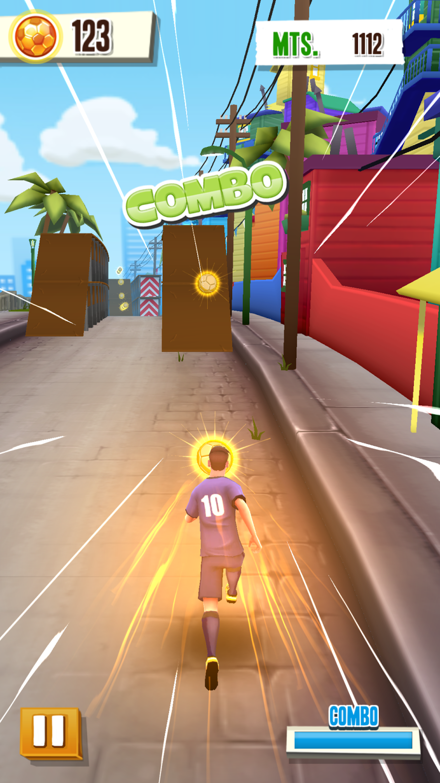 لعبة Messi Runner لعبة ميسي لكرة القدم والركض والتركيز | بحرية درويد