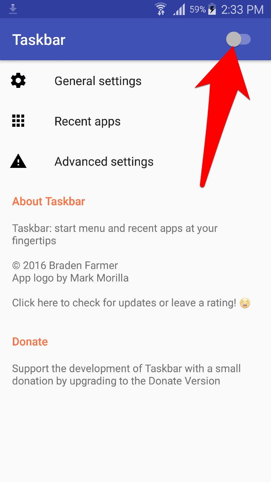 تطبيق Taskbar يضيف زر قائمة ابدأ لجوالك للوصول السريع للتطبيقات | بحرية درويد