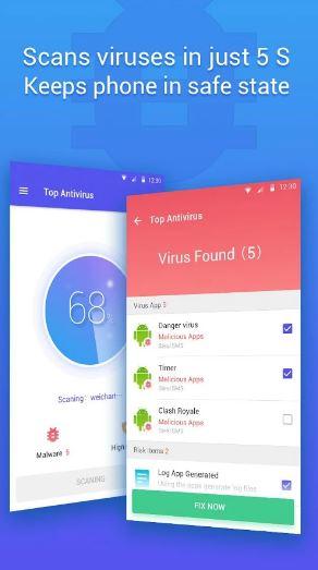 حمل اخف تطبيق حماية لاجهزة الاندرويد Top Antivirus | بحرية درويد