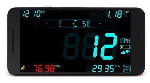 تطبيق DigiHUD Speedometer سيحول جوالك لعداد قياس السرعة | بحرية درويد