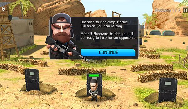 المراحل التدريبية في لعبة WarFriends