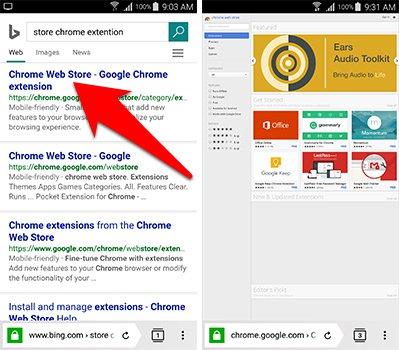تبحث عن store chrome Extensions على المتصفح