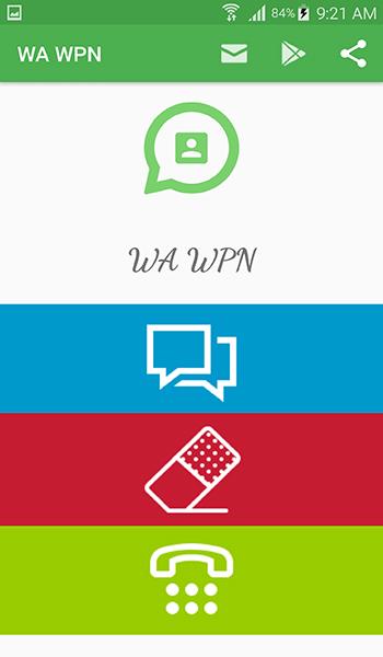 طريقة ارسال رسائل واتس اب لأي رقم بدون اضافته الى جهات الاتصال عبر تطبيق WA WPN   بحرية درويد