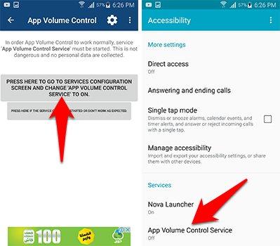 تقوم بمنح تطبيق App Volume Control