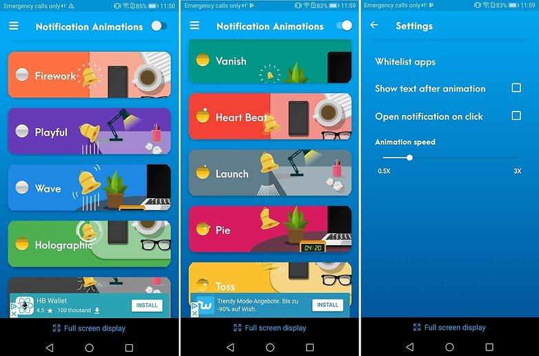 تطبيق Notification Animations يعطي ألوان خاصة لكل إشعار يصلك (بدون روت) | بحرية درويد