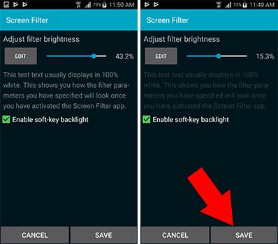 برنامج حماية العين للاندرويد Screen Filter لحماية العينين وتوفير البطارية