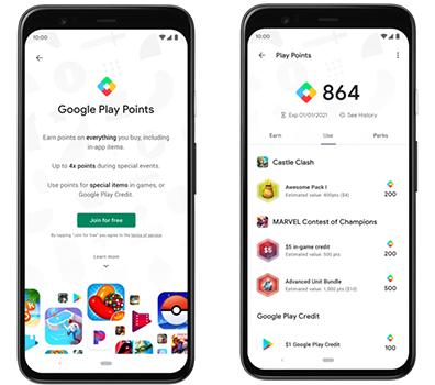 ميزة Play Points تظهر على متجر جوجل بلاي
