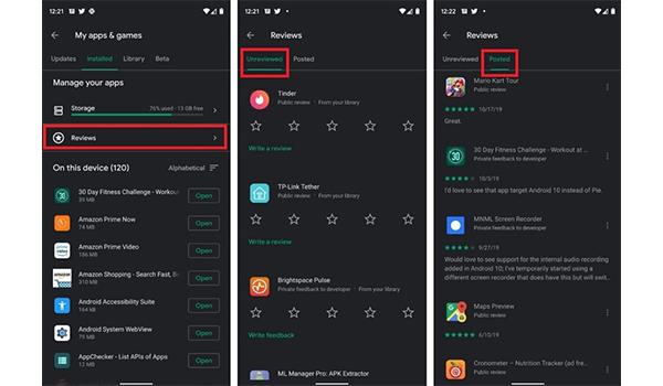 تحديث جديد يسمح لمستخدمي اندرويد بتقييم تطبيقاتهم ومراجعتها بسرعة   بحرية درويد